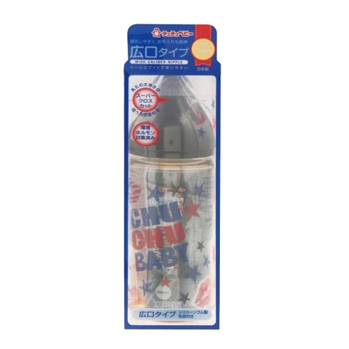 CHUCHU BABY Fedding Bottle PPSU Mama Cawa Wide Caliber Boys Type 240ml [C993713] - Botol Susu